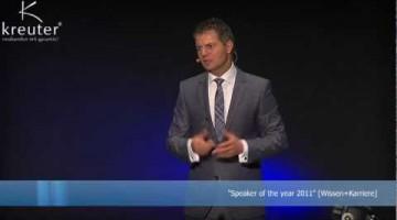 """Sprüche im Verkauf: """"183cm, blaue Augen, kurze Haare"""" ;-) Dirk Kreuter bei SalesMasters 2012"""